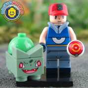 Bulbasaur and Trainer LEGO compatible Pokemon GO Minifigure