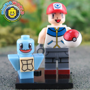 Squirtle and Trainer LEGO compatible Pokemon GO Minifigure