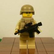 Smiley Minifigure Soldier