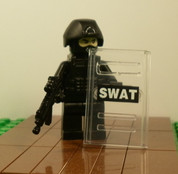SWAT Minifigure Soldier with Shield