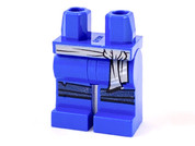 Minifig Legs - Blue with Gray Sash and Knee Straps