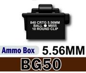 BG50 Ammo Box - printed 5.56mm