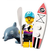 LEGO Minifig Series 21  Paddle Surfer