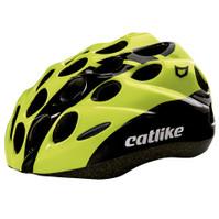 Catlike Kitten Helmet Black and Fluor Yellow