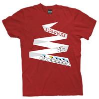Tour De France Mountain Project Alpe d'Huez T-shirt Red