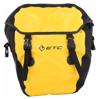 Yellow ETC Large Waterproof Rear Pannier