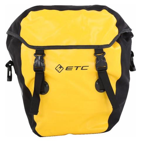 Yellow ETC Large Waterproof Rear Pannier