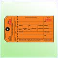 Inventory Control Tag  (Orange)