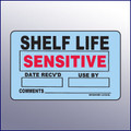 Shelf Life Sensitive Label 4 x 3