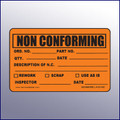 Non Conforming Quality Assurance Label 4 x 3