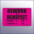 Rework & Reinspect Quality Assurance Label 4 x 3