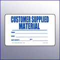 Customer Supplied Quality Assurance Label 4 x 3