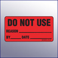 Do Not Use Label  4 x 2