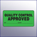 Approved Quality Control Label 4 x 2