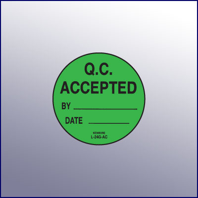 QC Accepted Label 1-3/4 dia