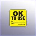 OK to Use Label 1-3/4 dia.