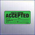 Accepted Quality Control Mini Label 1-/14 x 2-1/2