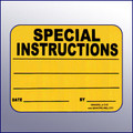 Special Instruction 4X3 Label