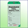 Passed Final Inspection Tag - 2 Part