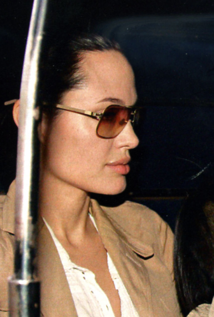 7ade1f9619fe Angelina Jolie wearing MYKITA ROLF Sunglasses - LuxuryEyesite.com