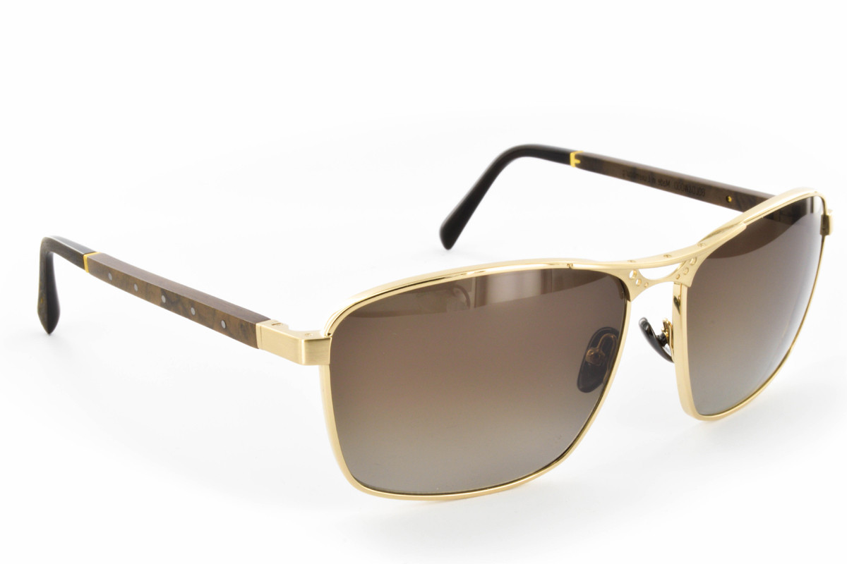 BORN ESSENTIALS SUN | Gold & Wood | Solar Line | Luxury Eyewear