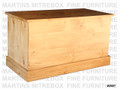 Oak Cottage Blanket Box 40''W x 22''H x 20''D