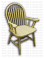 Maple Big Seat Arrow Arm Chair