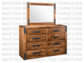 Maple Union Station High Dresser 18.5'' Deep x 60.5'' Wide x 39.5'' High