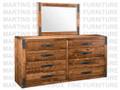 Maple Union Station Long High Dresser 18.5'' Deep x 72.5'' Wide x 32.5'' High