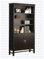 Maple Brooklyn Bookcase 14'' Deep x 41'' Wide x 80'' High With 2 Doors