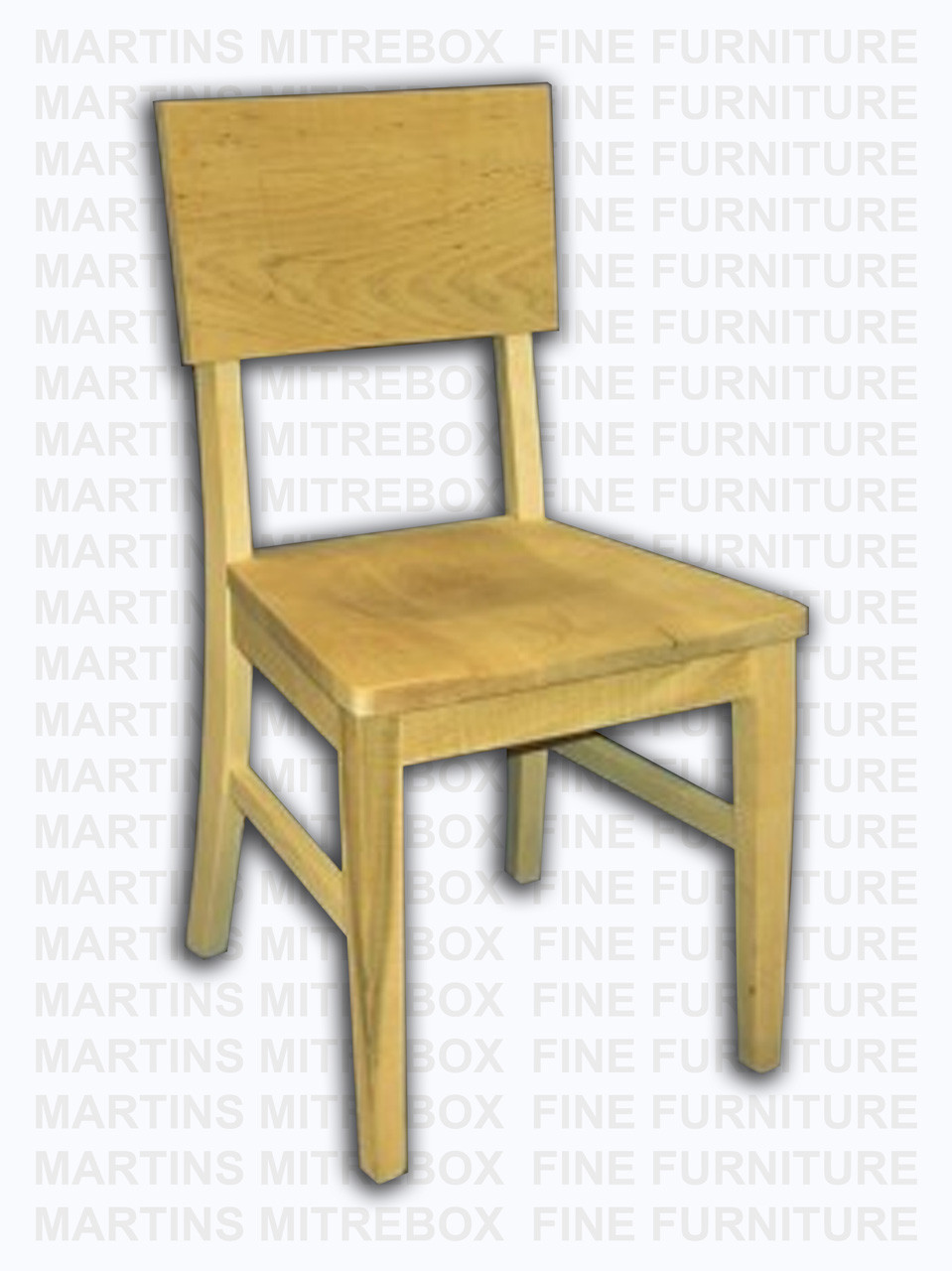 Hand Made Mennonite Furniture Wood Solid Maple Side Dining Chairs