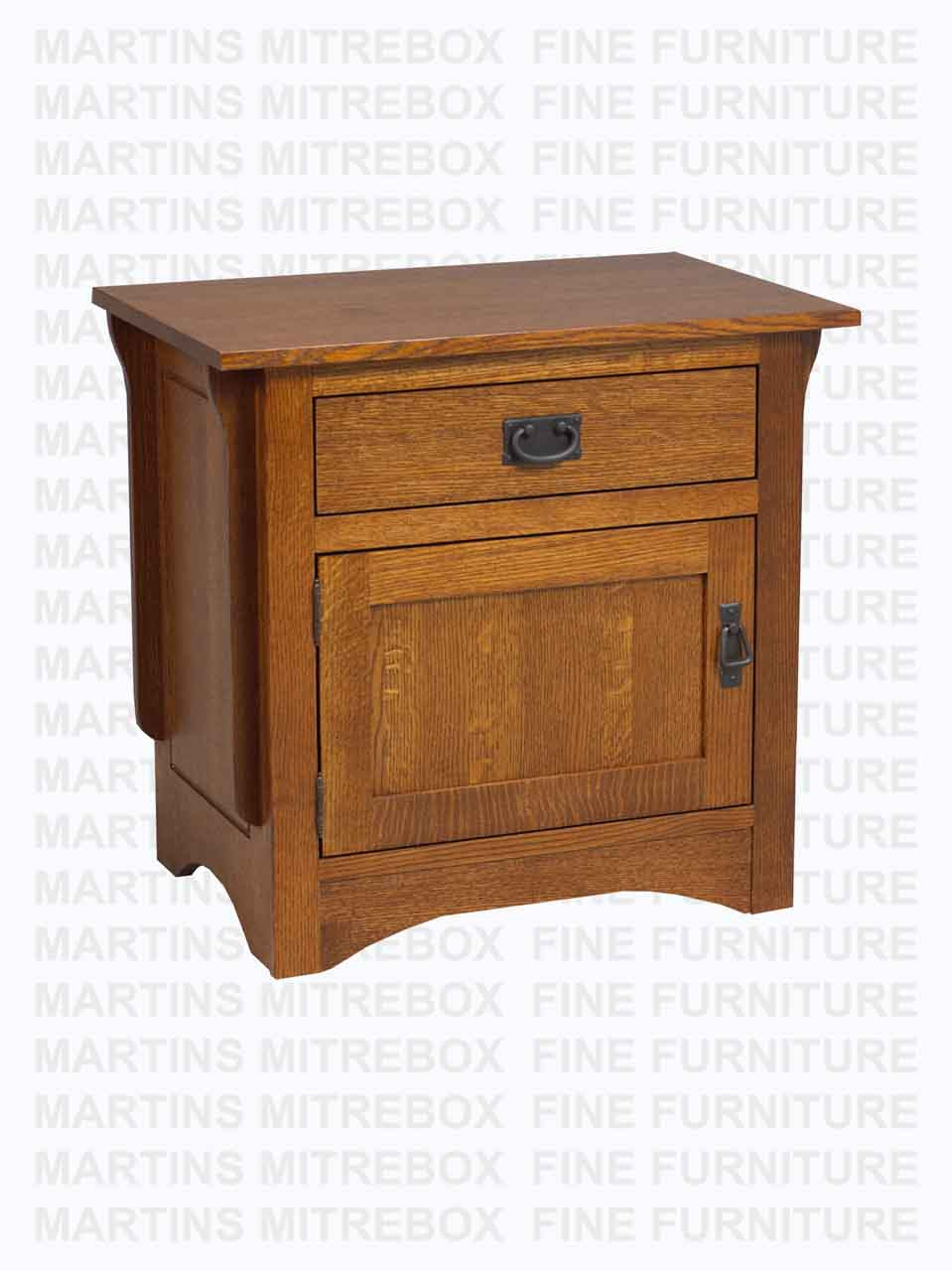 Oak Southern Mission Nightstand 1 Drawer 1 Door 18 D X 26 W X 28 H
