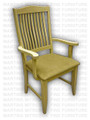Maple Alexandria Arm Chair With Upholstered Seat
