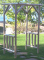 Unfinished Log Garden Arbor