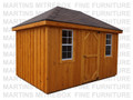 8'D x 12'W English Cottage Storage Shed Stained And Assembled On Site