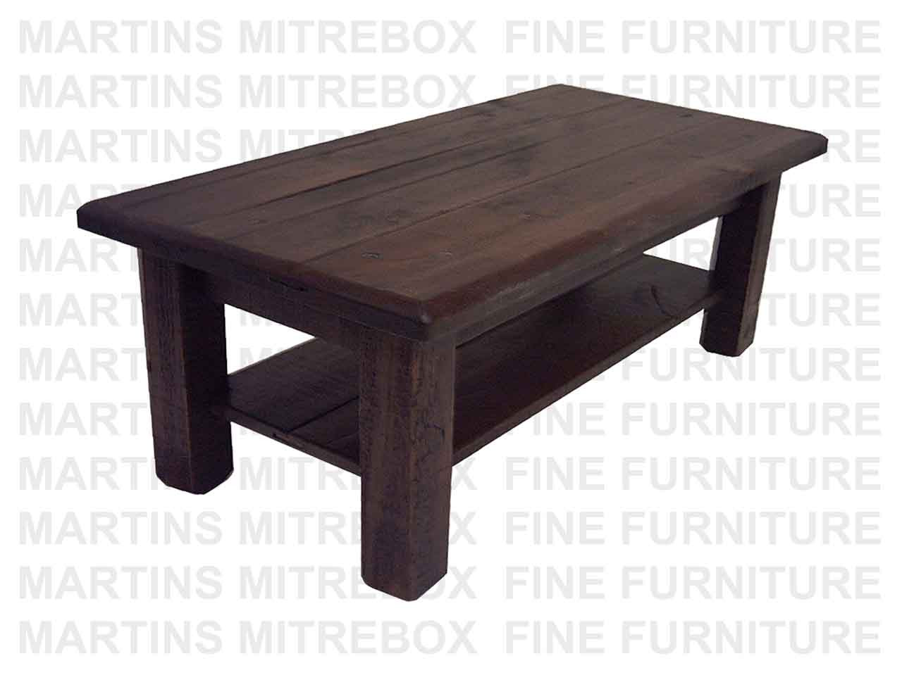 Stclementstrim Pine Rustic Coffee Table With Shelf