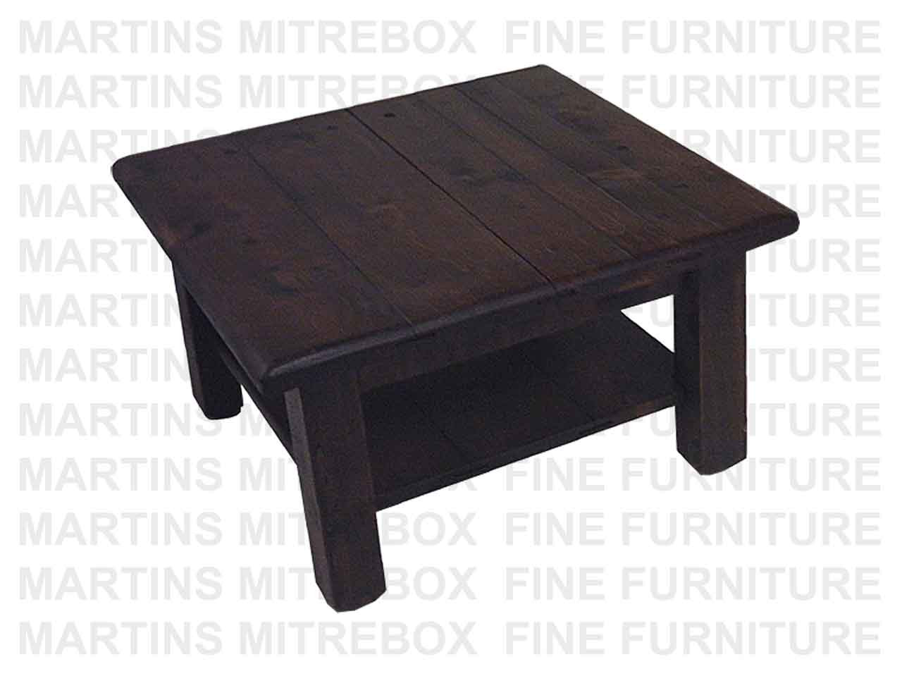 Rustic Coffee Table.Pine Rustic Coffee Table 32 D X 32 W X 18 H With Shelf