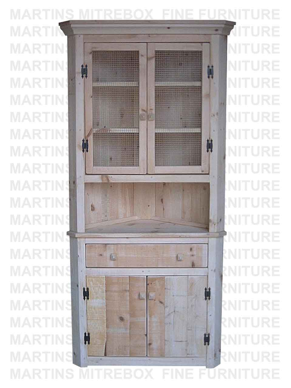 Amazing Pine Rustic Corner Hutch And Buffet 20D X 40W X 80H With 2 Doors And Open Hutch Home Interior And Landscaping Ologienasavecom