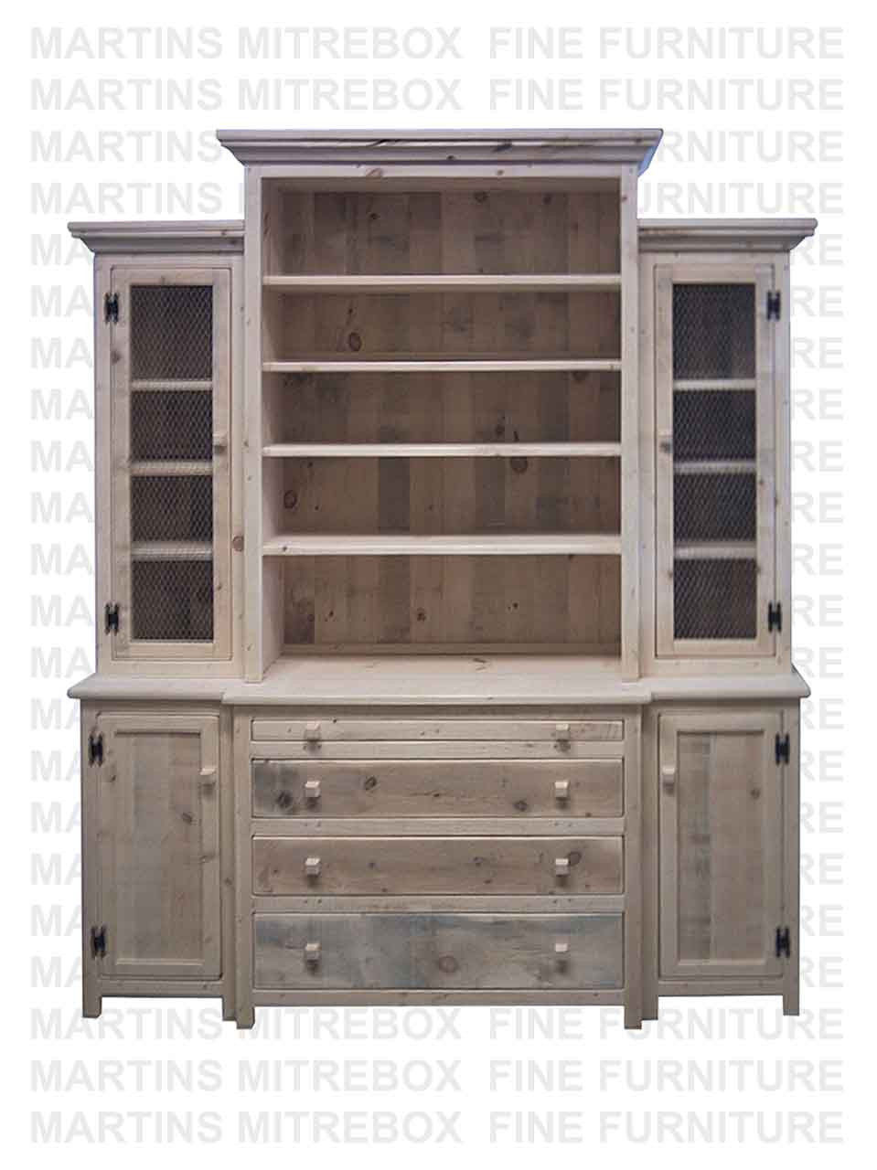Incredible Pine Rustic Break Front Hutch And Buffet 20D X 76W X 91H With 4 Doors 3 Drawers And Open Hutch Pull Out Server Home Interior And Landscaping Ologienasavecom