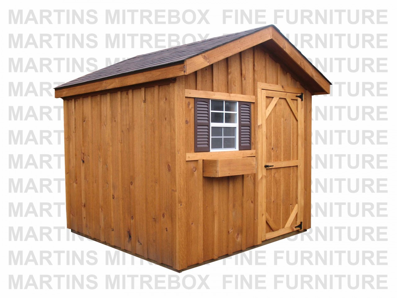 12'W x 16'D Garden Gable Stained Storage Shed In Kit Form