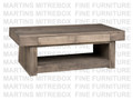 Maple Baxter Coffee Table 28''D x 54''W x 19''H With 2 Drawers