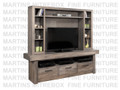 Maple Baxter HDTV Entertainment Cabinet With Hutch 19''D x 84''W x 79''H
