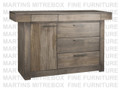 Maple Baxter Sideboard 19''D x 63.5''W x 37.5''H With 5 Drawers And 1 Door.