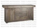 Maple Baxter Sideboard 19''D x 79''W x 37.5''H With 5 Drawers And 2 Doors