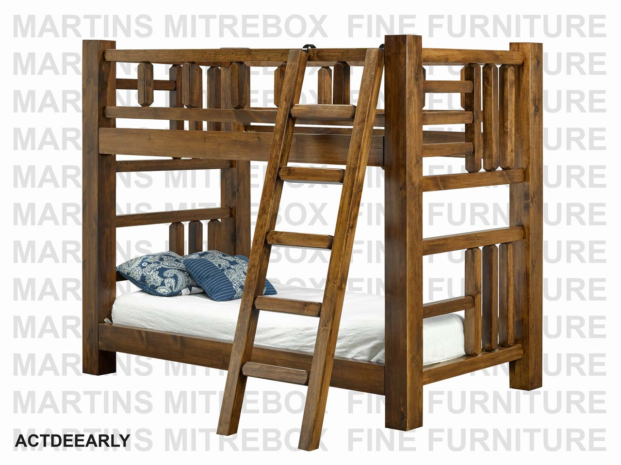 Picture of: Finished Timber Twin Over Double Bunk Bed