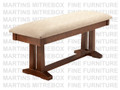 Maple Brooklyn Bench 16''D x 48''W x 18''H With Fabric Seat