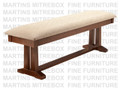 Maple Brooklyn Bench 16''D x 60''W x 18''H With Fabric Seat