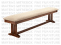 Maple Brooklyn Bench 16''D x 72''W x 18''H With Fabric Seat