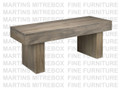Maple Baxter Bench 16''D x 48''W x 18''H With Wood Seat