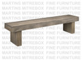 Maple Baxter Bench 16''D x 72''W x 18''H With Wood Seat